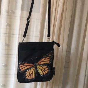 Handbags - Black and Butterfly Small Purse